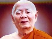 Fallece prestigioso bonzo Thich Minh Chau