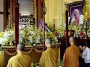 Rinden tributo al bonzo superior Thich Minh Chau