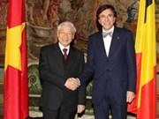 Líder partidista vietnamita continúa gira por Bélgica