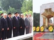 Rinden homenaje al Presidente Ho Chi Minh en Día Nacional