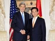 Premier vietnamita con empresarios estadounidenses