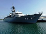 Buques de fuerza marítima japonesa visitan Myanmar