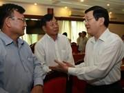 Presidente reúne con empresarios de Ciudad Ho Chi Minh
