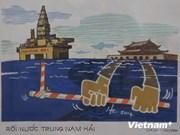 Pintores vietnamitas muestran amor hacia mar e islas nacionales