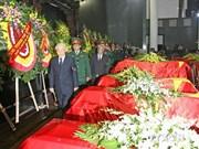 Celebran acto fúnebre a militares fallecidos en accidente de helicóptero
