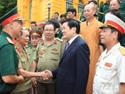 Presidente vietnamita resalta méritos de los soldados