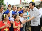 Recorre presidente vietnamita provincia central