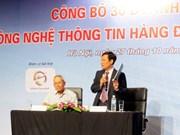 Presentan internacionalmente 30 empresas vietnamitas líderes en informática