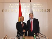 Secretario general del PCV se reúne con parlamentarios rusos