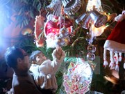 En Hanoi celebración de Navidad en estilo tradicional de Italia