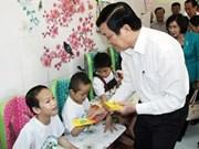 Presidente vietnamita visita distrito de Cu Chi en ocasión del Tet