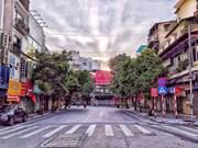 Hanoi apacible durante los días de distanciamiento social