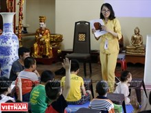 [Foto] Clases de inglés en la puerta de Buda