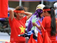 [Foto] Gran ambiente en Hanoi antes del partido entre Vietnam y Corea del Sur