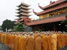 [Fotos] Sangha budista de Vietnam en Ciudad Ho Chi Minh rinde homenaje al presidente Tran Dai Quang