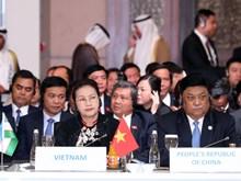 (Fotos) Presidenta de la Asamblea Nacional de Vietnam asiste a conferencia internacional