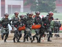 [Foto] Ejércitos de Vietnam y China realizan ensayo de rescate en caso de desastres naturales y epidemias