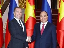 [Foto] Primer ministro de Rusia inicia visita oficial a Vietnam