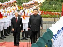 [Fotos] Acto de recibimiento al presidente Kim Jong-un