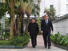[Fotos] Presidentes norteamericano Trump y su homólogo norcoreano Kim Jong-un en el hotel Sofitel Legend Metropole Hanoi