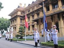 [Fotos] Ceremonia de izamiento de bandera de la ASEAN en Vietnam