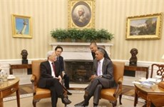 Líder partidista vietnamita conversa con presidente Barack Obama