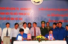 Encuentro juvenil interprovincial Vietnam-Laos