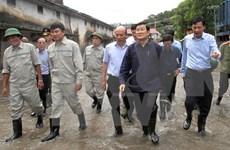 Inspecciona presidente superación de secuelas en Quang Ninh