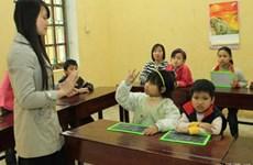Asistencias a niños sordos vietnamitas en acceso a educación
