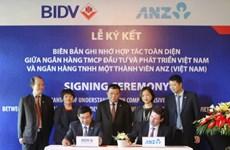 BIDV firma acuerdo de cooperación con ANZ