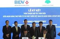 BIDV firma contrato de préstamo sindicado internacional