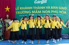 Grupo Cargill construirá dos escuelas en Vietnam