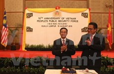 Celebran en el exterior Día tradicional de Policía vietnamita