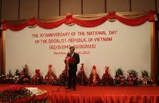 Solmene mitin en Laos en saludo al Día Nacional de Vietnam