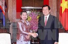 Recibe presidente vietnamita a dirigentes laosiano y cambodiano