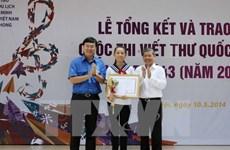 Vietnam convoca concurso de escritura de UPU 45