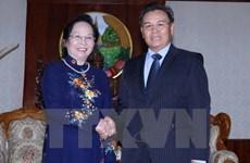 Vicepresidenta vietnamita se reúne con dirigente parlamentario de Laos