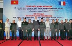 Vietnam y Francia intercambian experiencias en operaciones de paz de ONU