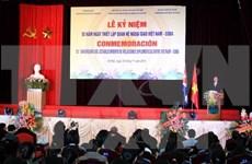 Orgullosos Cuba y Vietnam por fruto de 55 años de hermandad ejemplar