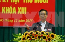 Premier se reúne con electores de Hai Phong