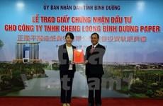 Inversión taiwanesa en construcción de planta de papel en Binh Duong