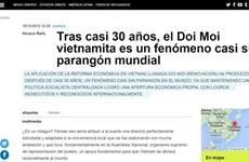 Prensa argentina destaca logros de Doi moi