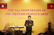 Celebran en Laos aniversario del Ejército Popular de Vietnam