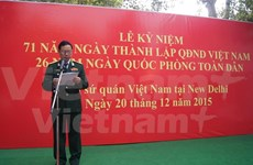 Celebran en la India aniversario del Ejército Popular de Vietnam