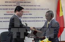 Firman Vietnam y Timor Leste memorando de comercio de arroz
