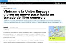 Prensa argentina publica sobre tratado de libre comercio entre Vietnam-UE