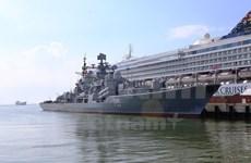 Visita ciudad vietnamita flota de buques de Marina rusa