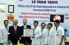 Da Nang recibe equipos médicos auspiciados por Japón