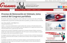 Prensa cubana saluda XII Congreso del Partido Comunista de Vietnam