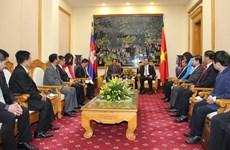 Vietnam y Cambodia cooperan en garantía de seguridad y orden social